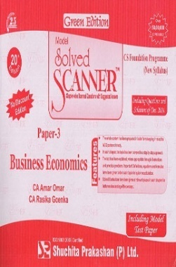 Solved Scanner Business Economics CS Foundation Paper-3