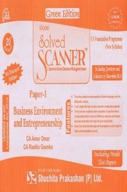 Solved Scanner CS Foundation Business Enviroment and Entrepreneurship Paper-1