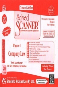 Solved Scanner CS Executive Progamme Module-I New Syllabus Paper-1 Company Law Green Edition (Jul-2015)