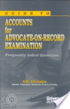Guide to Accounts for Advocate on Record Examination (FAQ), (Reprint)