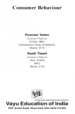 Consumer Behaviour By Poonam Yadav