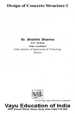 Design of Concrete Structure I By Er. Shobhit Sharma