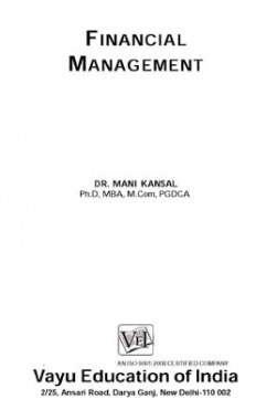 Financial Management By Dr. Mani Kansal