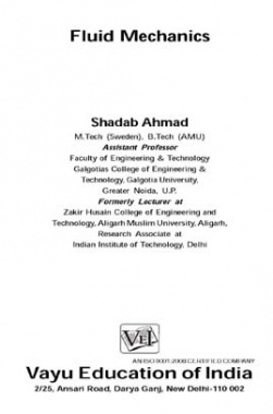 Fluid Mechanics By Shadab Ahmad
