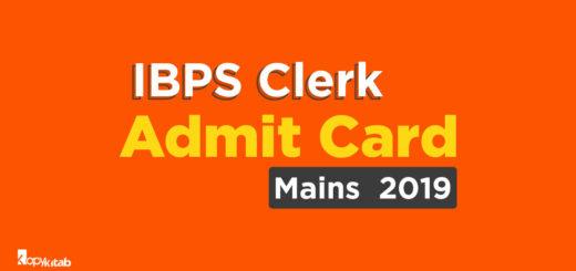 IBPS Clerk Admit Card Mains 2019