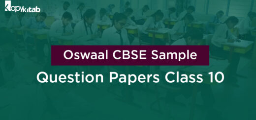 Oswaal CBSE Sample Question Papers