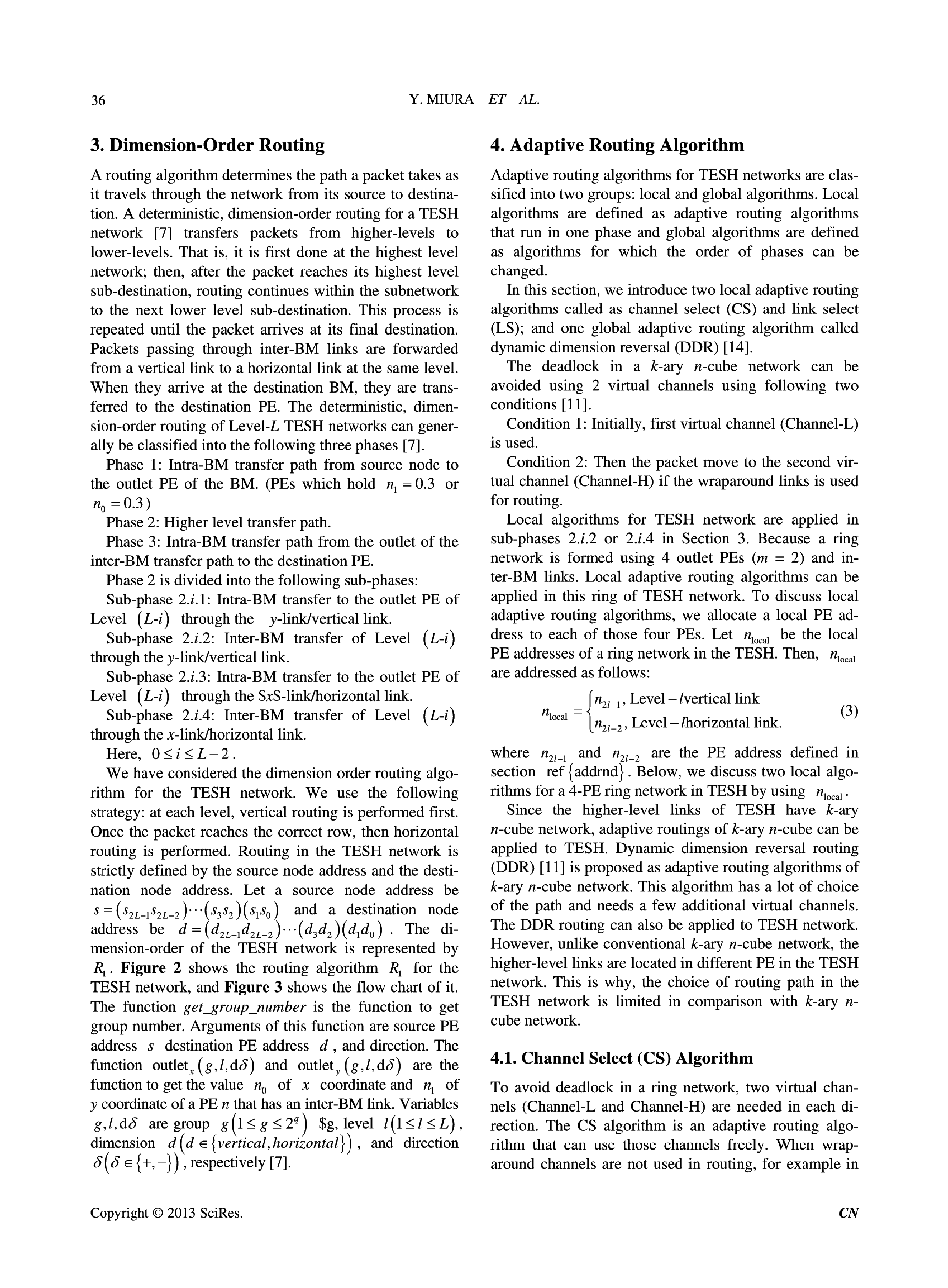 Adaptive Routing Algorithms and Implementation for TESH Network Journal - Page 4