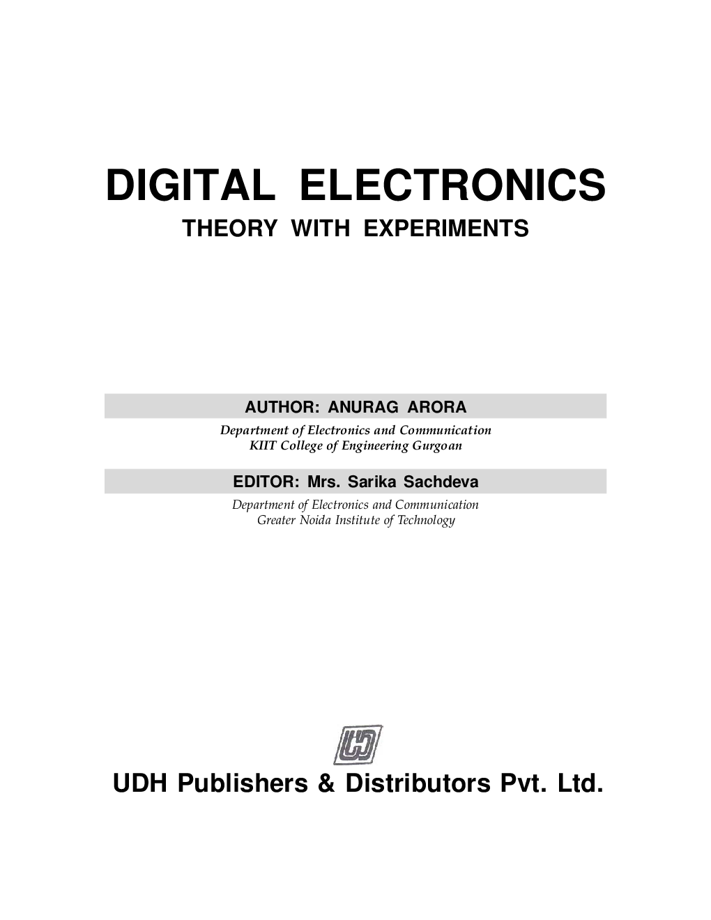 Digital Electronics, Theory with Experiments eBook - Page 2