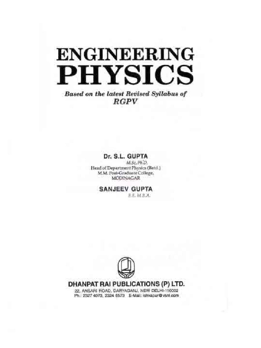 Engineering Physics by Dr. S.L. Gupta and Sanjeev Gupta - Page 2