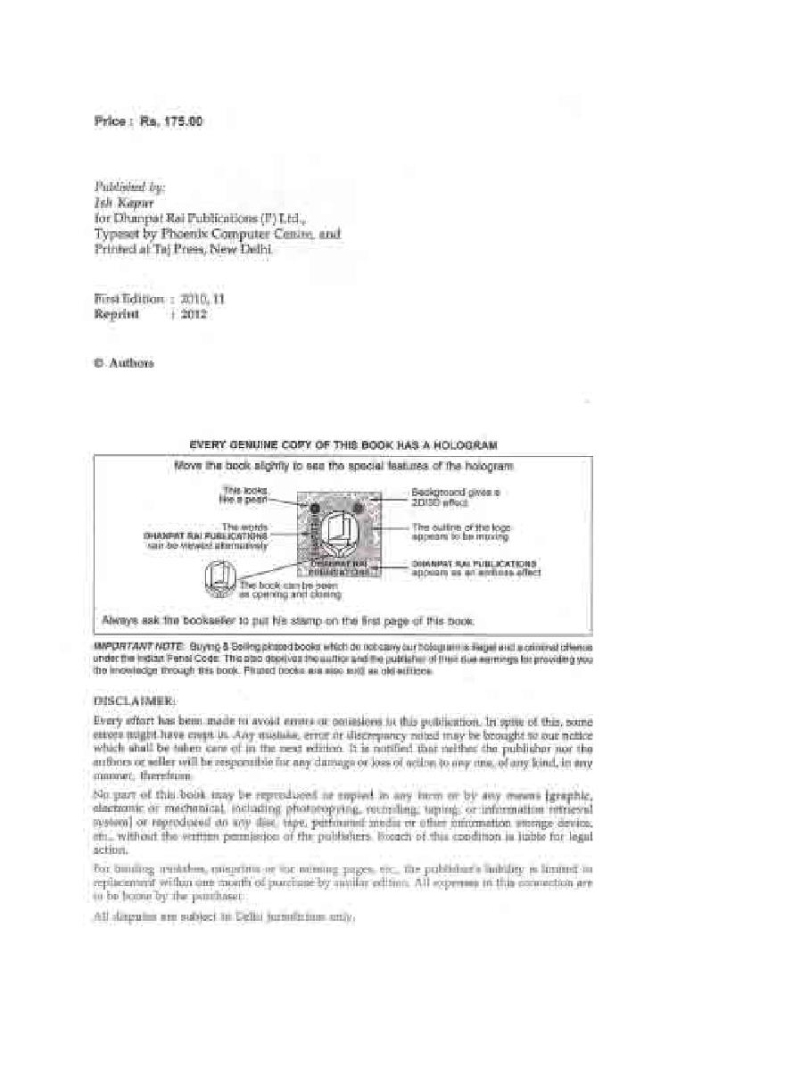 Engineering Physics by Dr. S.L. Gupta and Sanjeev Gupta - Page 3