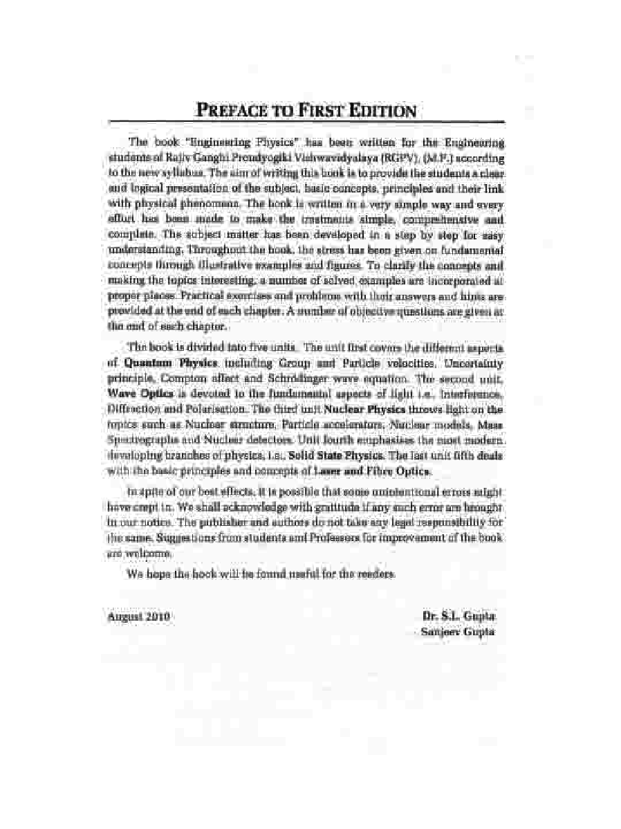 Engineering Physics by Dr. S.L. Gupta and Sanjeev Gupta - Page 4