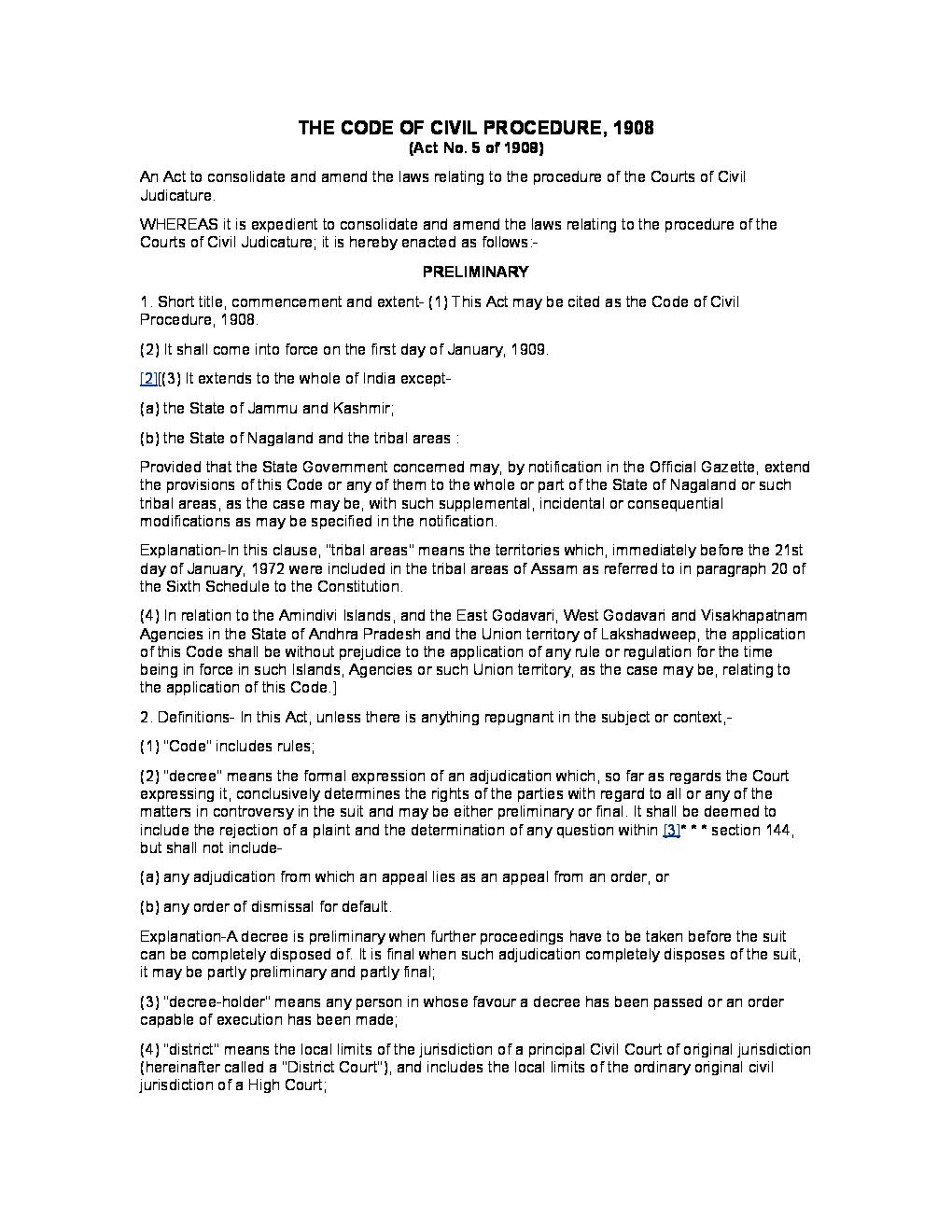 Code of civil procedure 1908 pdf