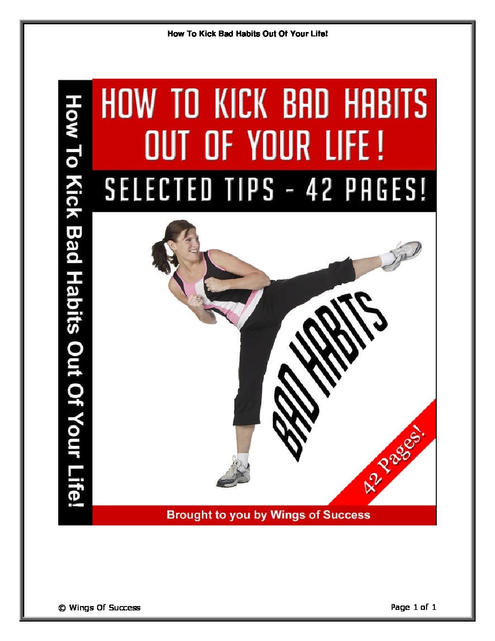 Bad Habits PDF Free Download