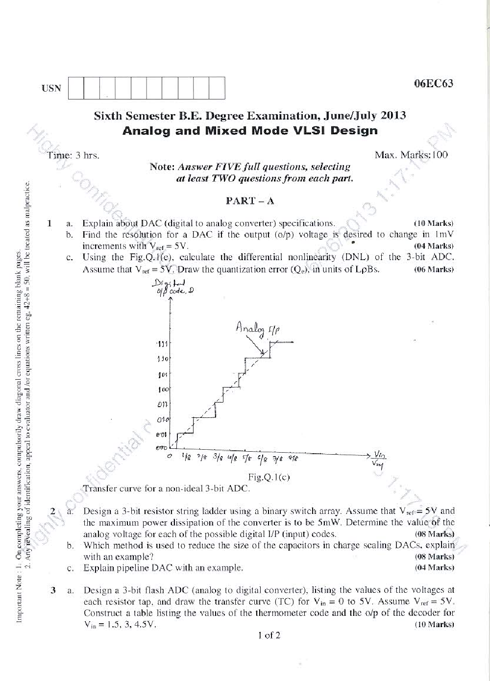 VTU QUESTION PAPERS 6th Semester Electronics & Communication Engineering 2011-2014 - Page 3