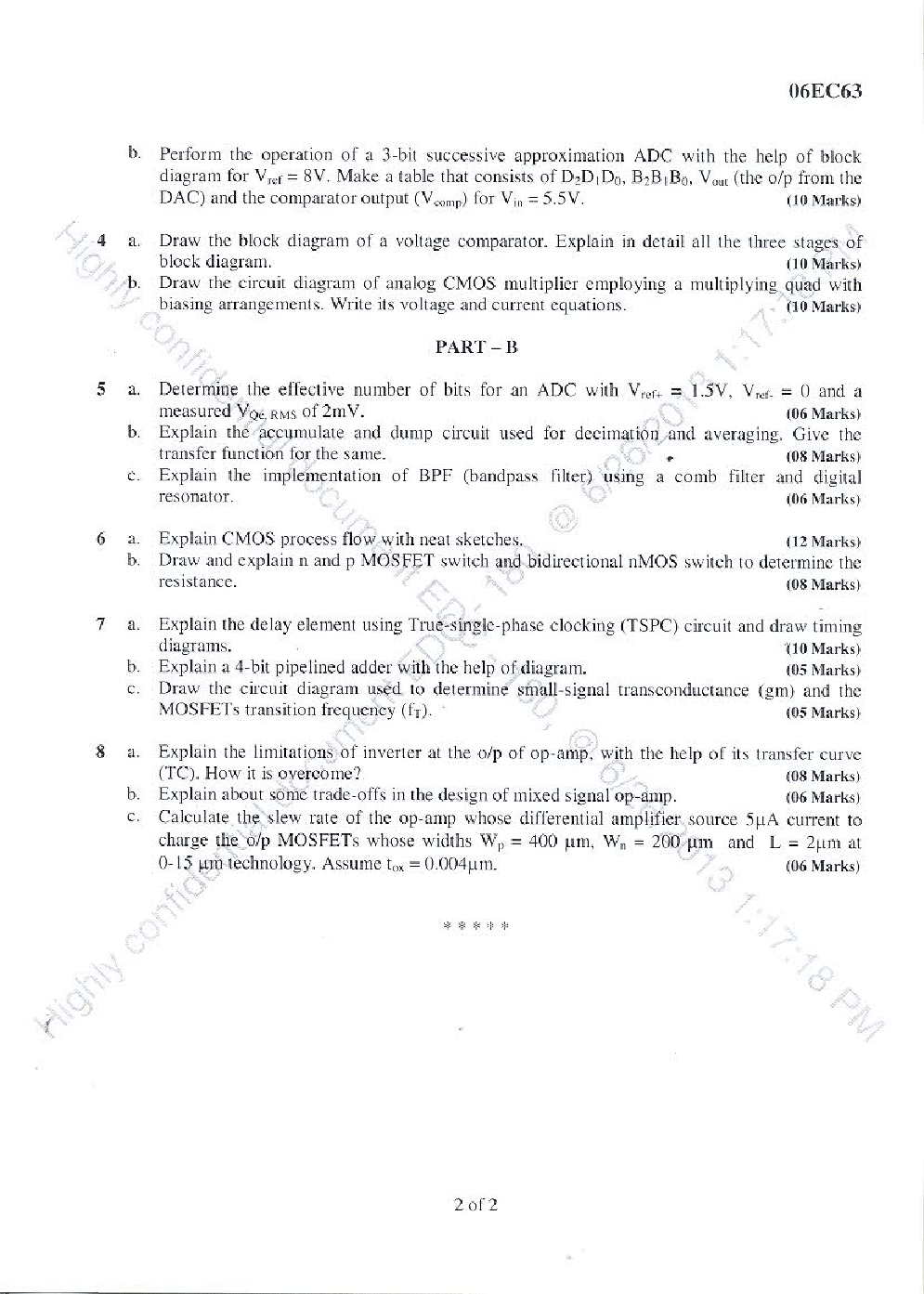 VTU QUESTION PAPERS 6th Semester Electronics & Communication Engineering 2011-2014 - Page 4