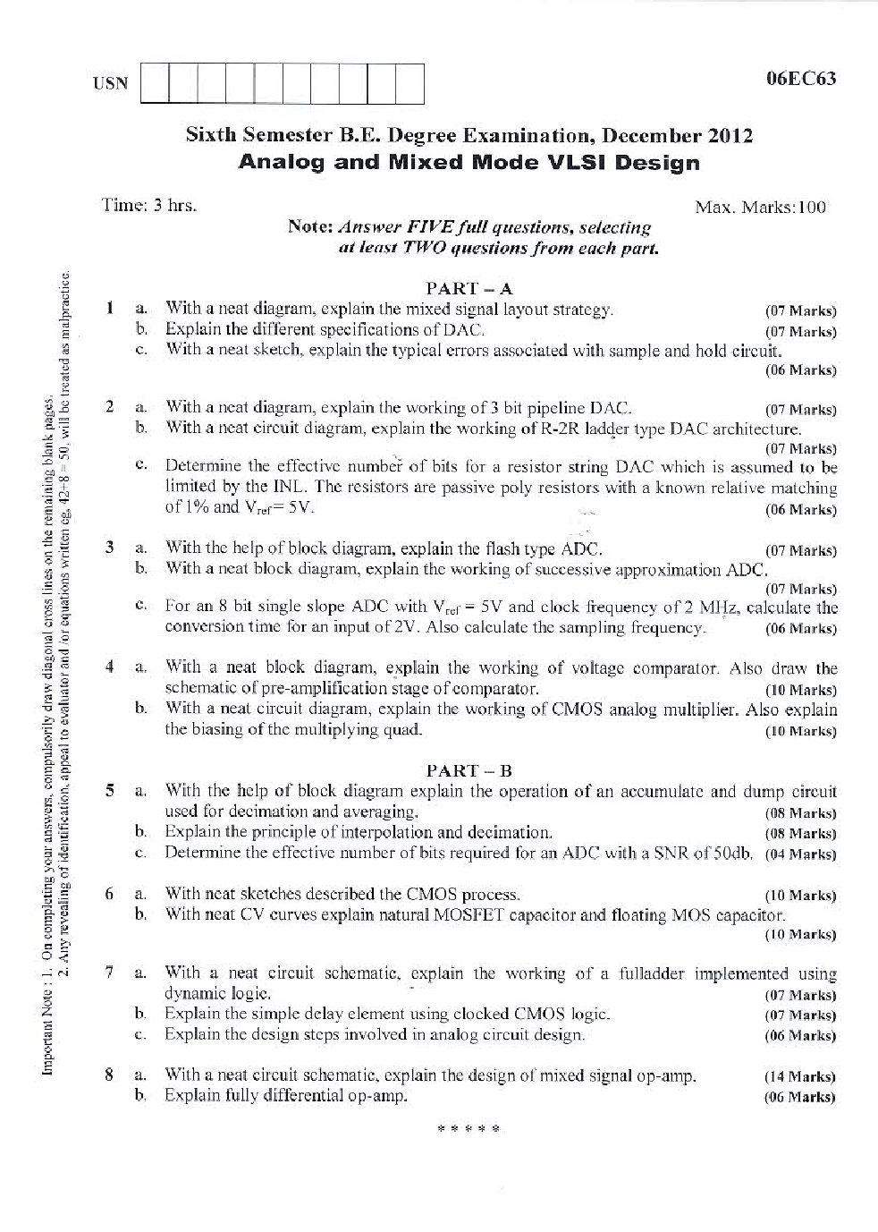 VTU QUESTION PAPERS 6th Semester Electronics & Communication Engineering 2011-2014 - Page 5