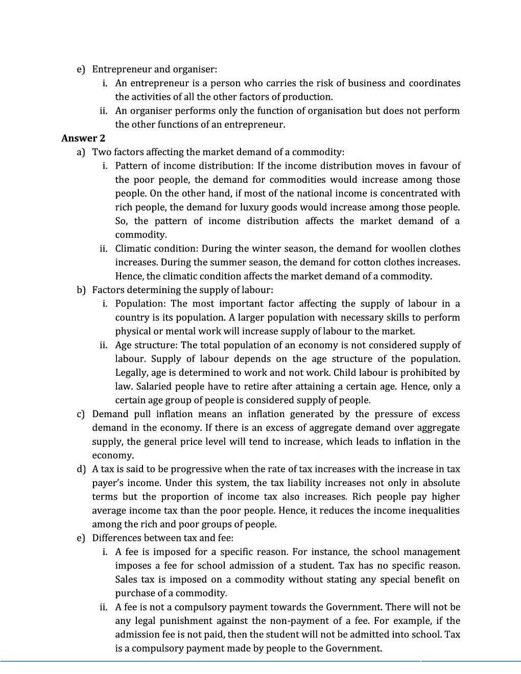 ICSE Sample Question Papers For Class 10 Economics - Page 5
