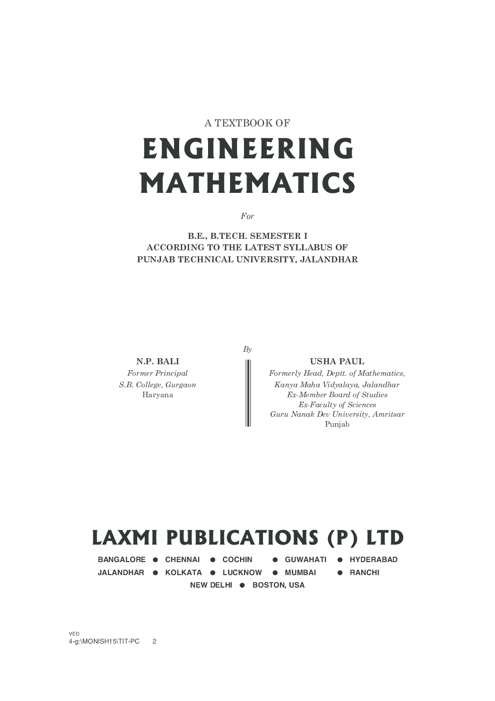 Engineering Mathematics In Hindi (Semester - 2) - YouTube