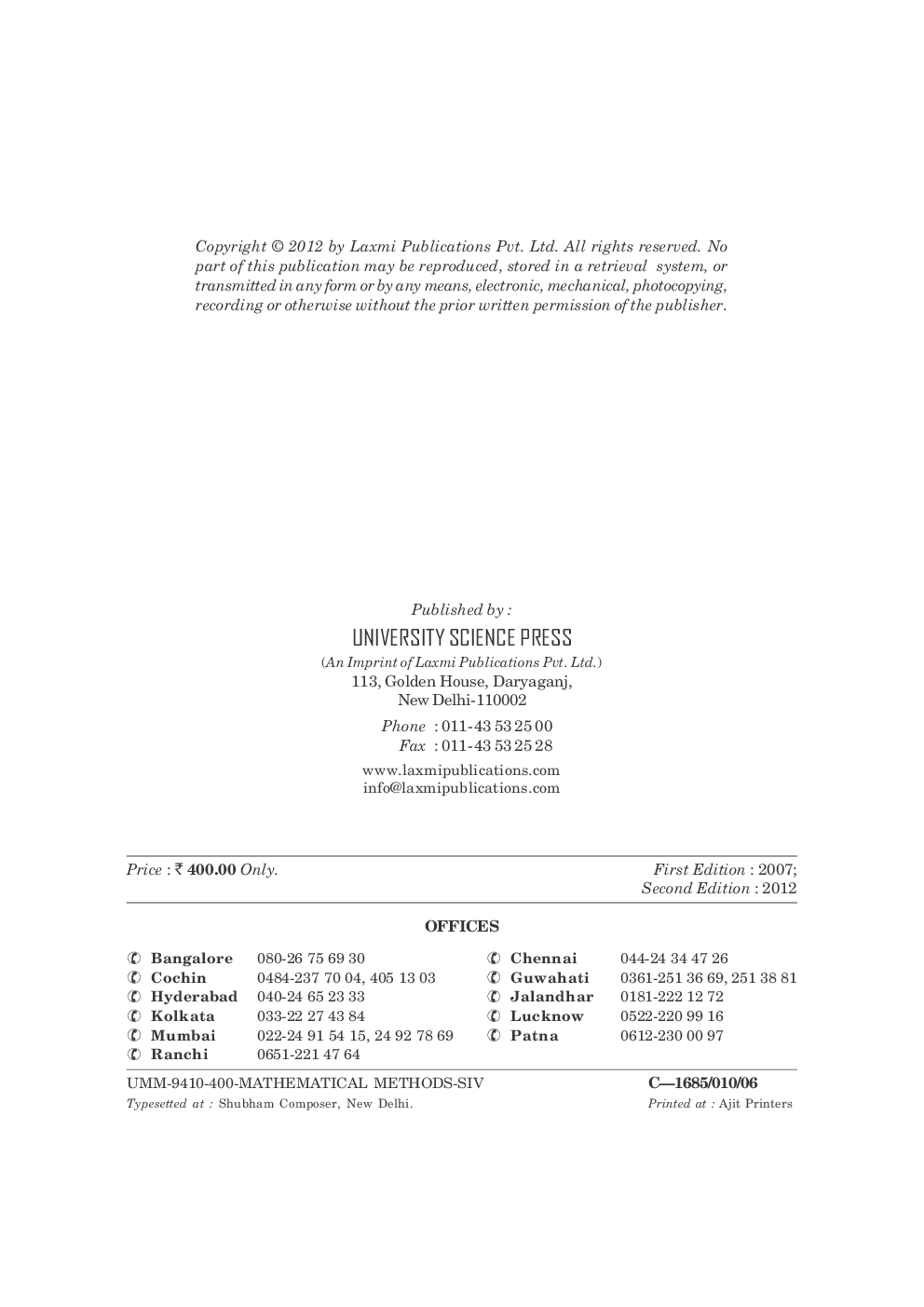 Mathematical Methods By Dr. S. Sivaiah - Page 3
