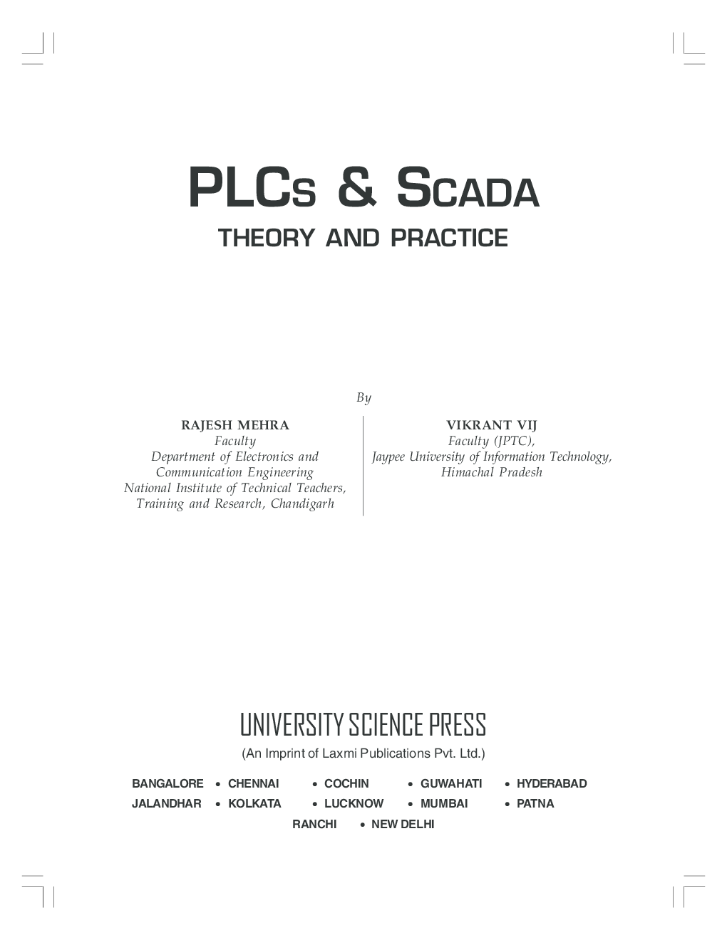 PLCS & SCADA Theory And Practice By Rajesh Mehra, Vikrant Vij - Page 3
