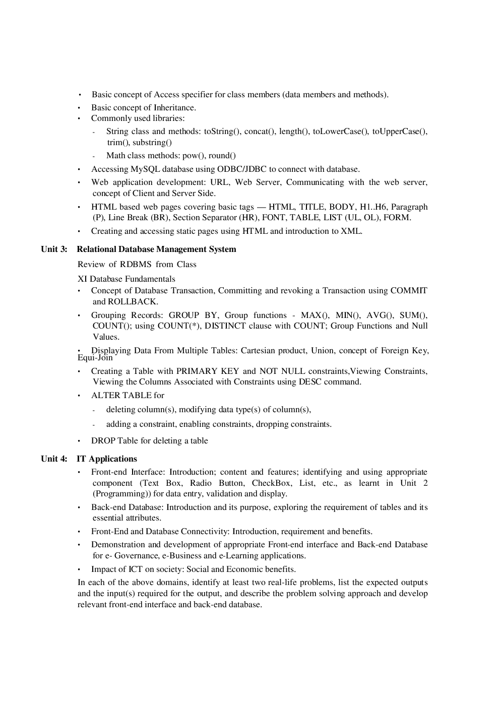 Informatics Practices Study Material for Class XII - Page 4