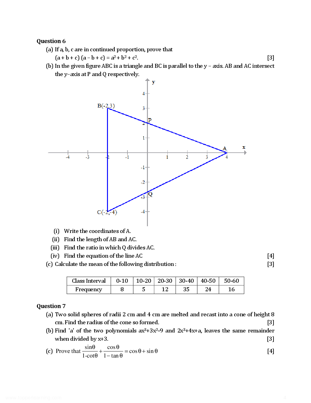 ICSE Previous Year Solved Question Papers For Class 10 Mathematics 2012-2015 - Page 5