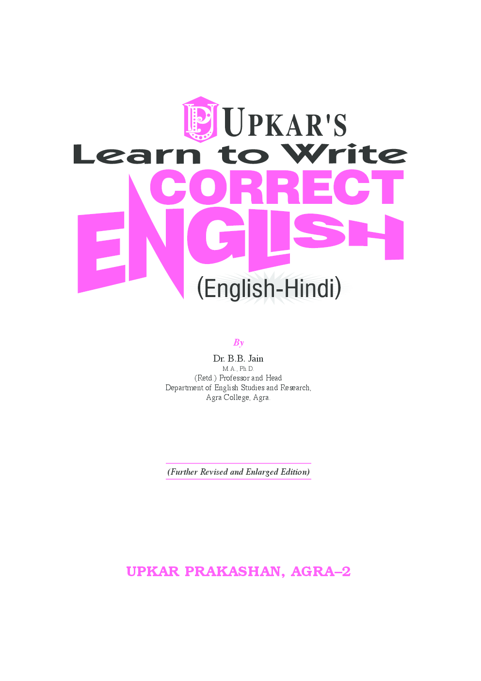 Learn to Write Correct English (Eng.-Hindi) - Page 2