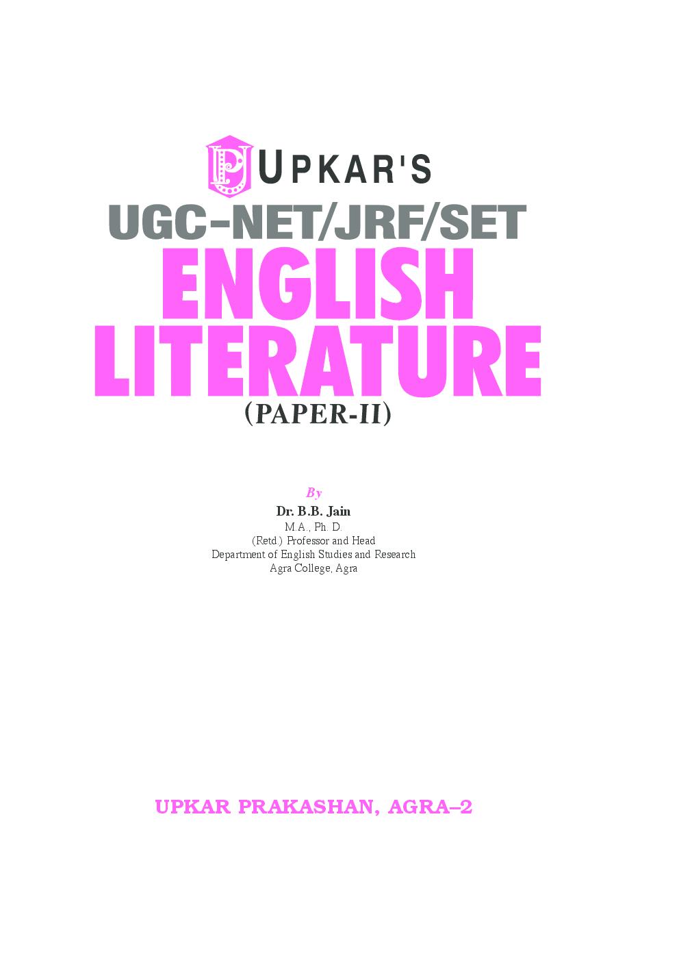 UGC Net JRF Set English Literature (Paper -II) - Page 2