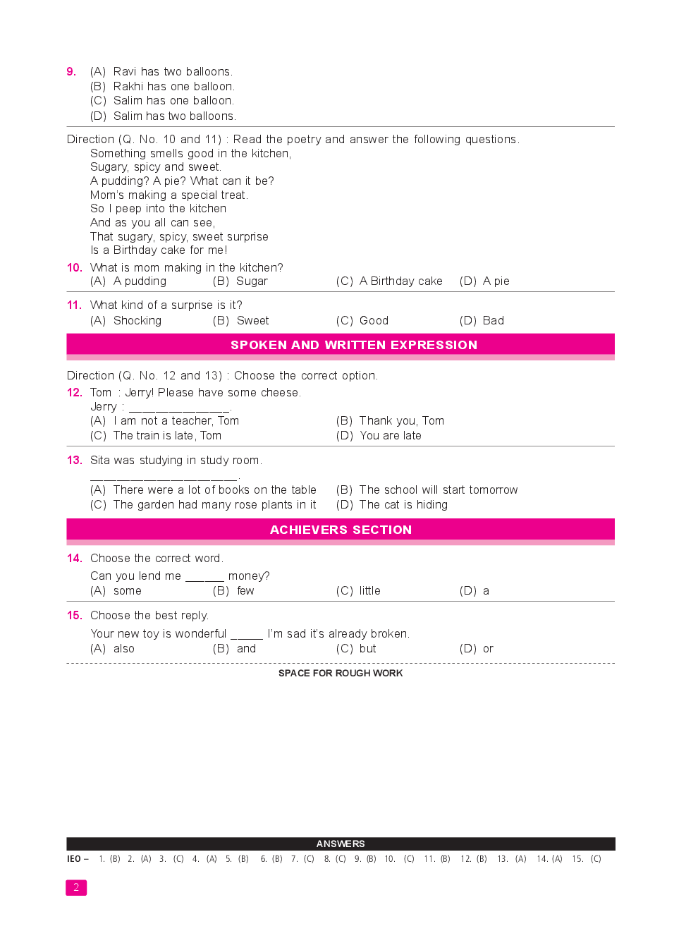 International English Olympiad (IEO) Sample Paper & Syllabus For Class I To XII (2018 - 19) - Page 5