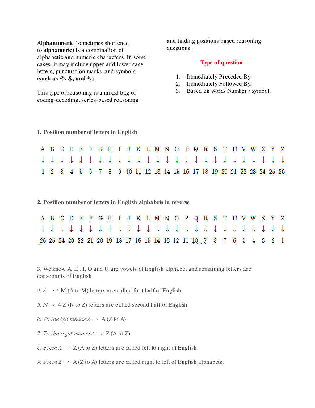MCQs Reasoning (Alphanumeric Series) With Solutions - Page 3