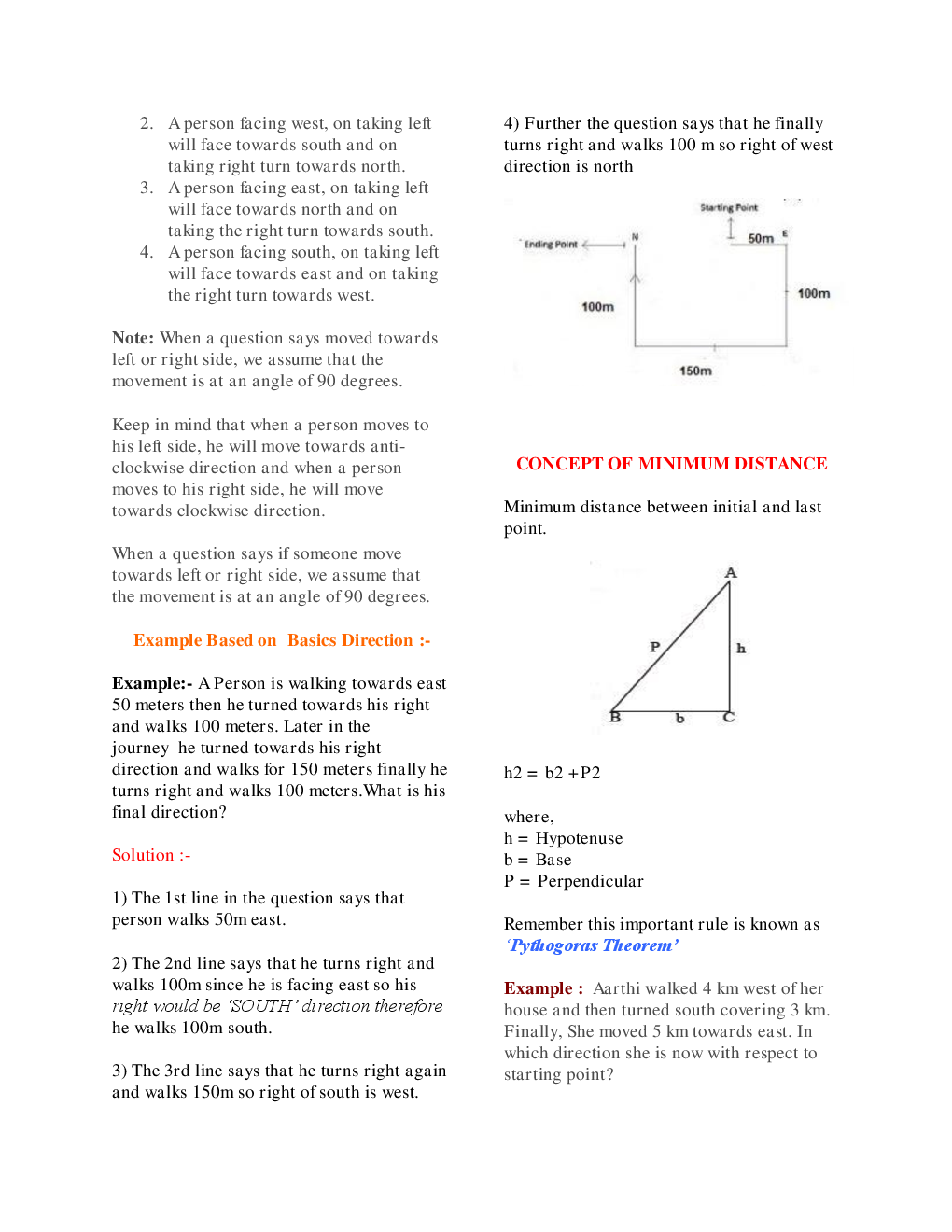 MCQs Reasoning (Direction Sense) With Solutions - Page 5