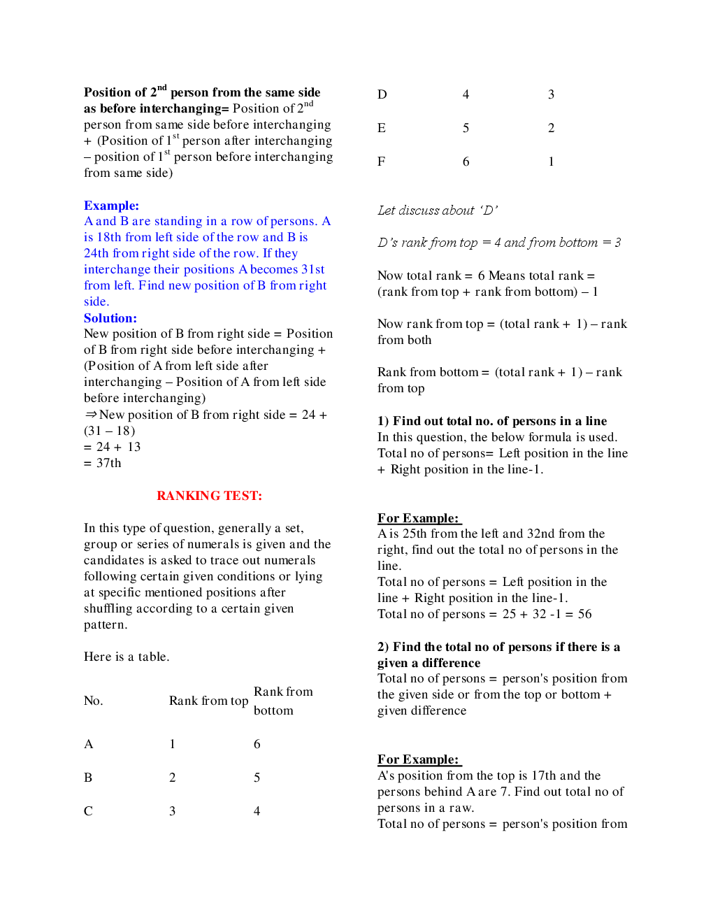 MCQs Reasoning (Order Ranking) With Solutions - Page 5