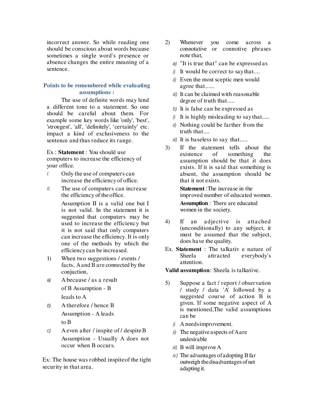 MCQs Reasoning (Statement & Assumption) With Solutions - Page 4