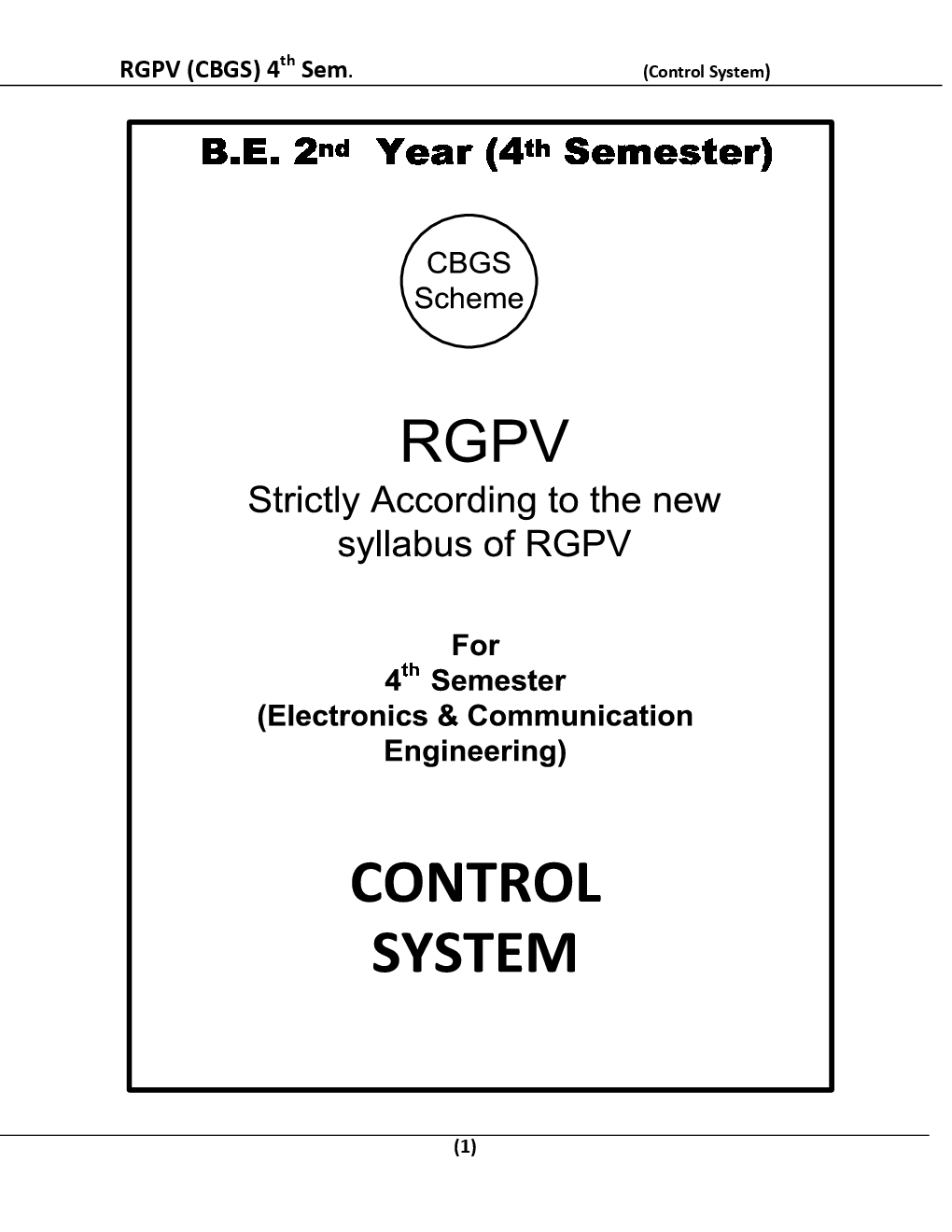 Control System For RGPV BE 4th Sem Electronics & Communication Engineering - Page 2
