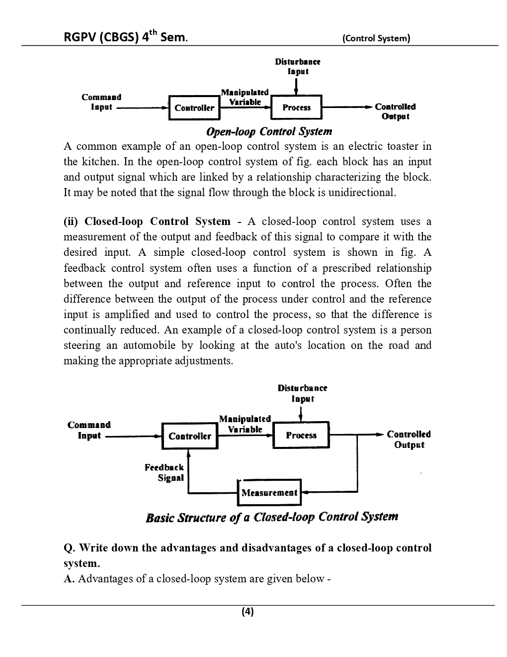 Control System For RGPV BE 4th Sem Electronics & Communication Engineering - Page 5