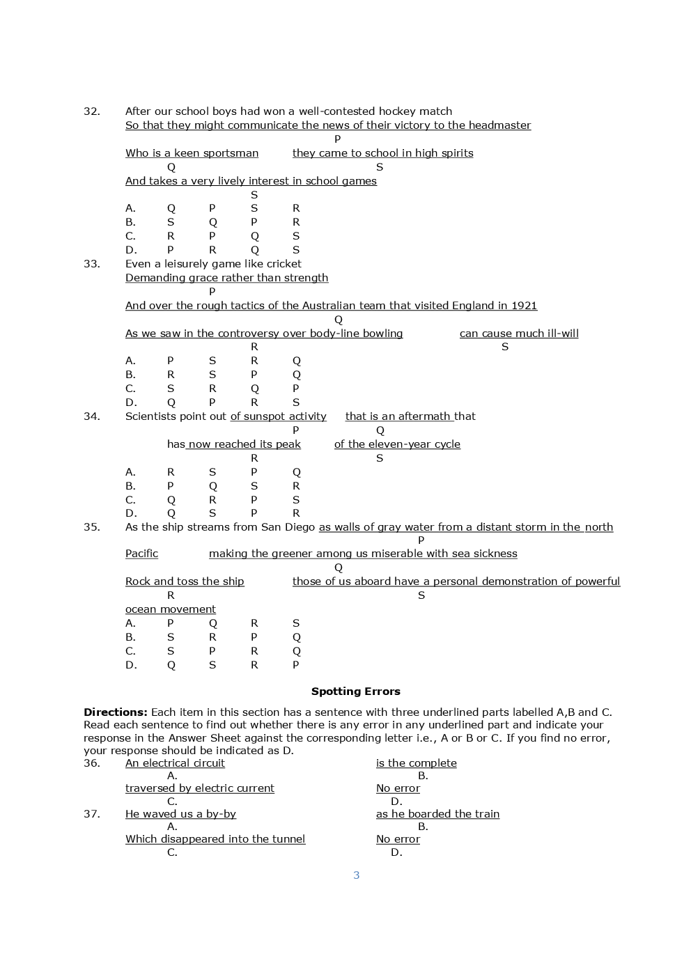 NDA-II General Ability Test Question Paper With Solutions (2017) - Page 4