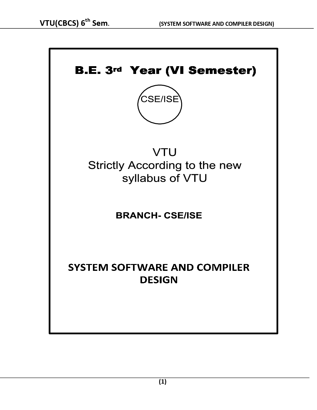 Download System Software And Compiler Design For Vtu Be 6th Sem Computer Science Engineering By Prepared By Top Faculties Of Vtu Pdf Online