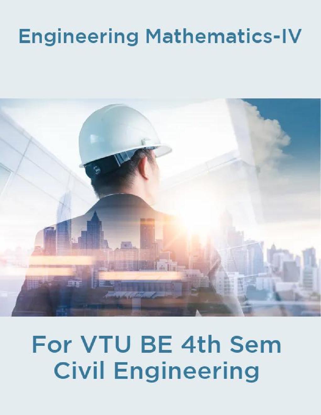 Engineering Mathematics-IV  For VTU BE 4th Sem Civil Engineering - Page 1