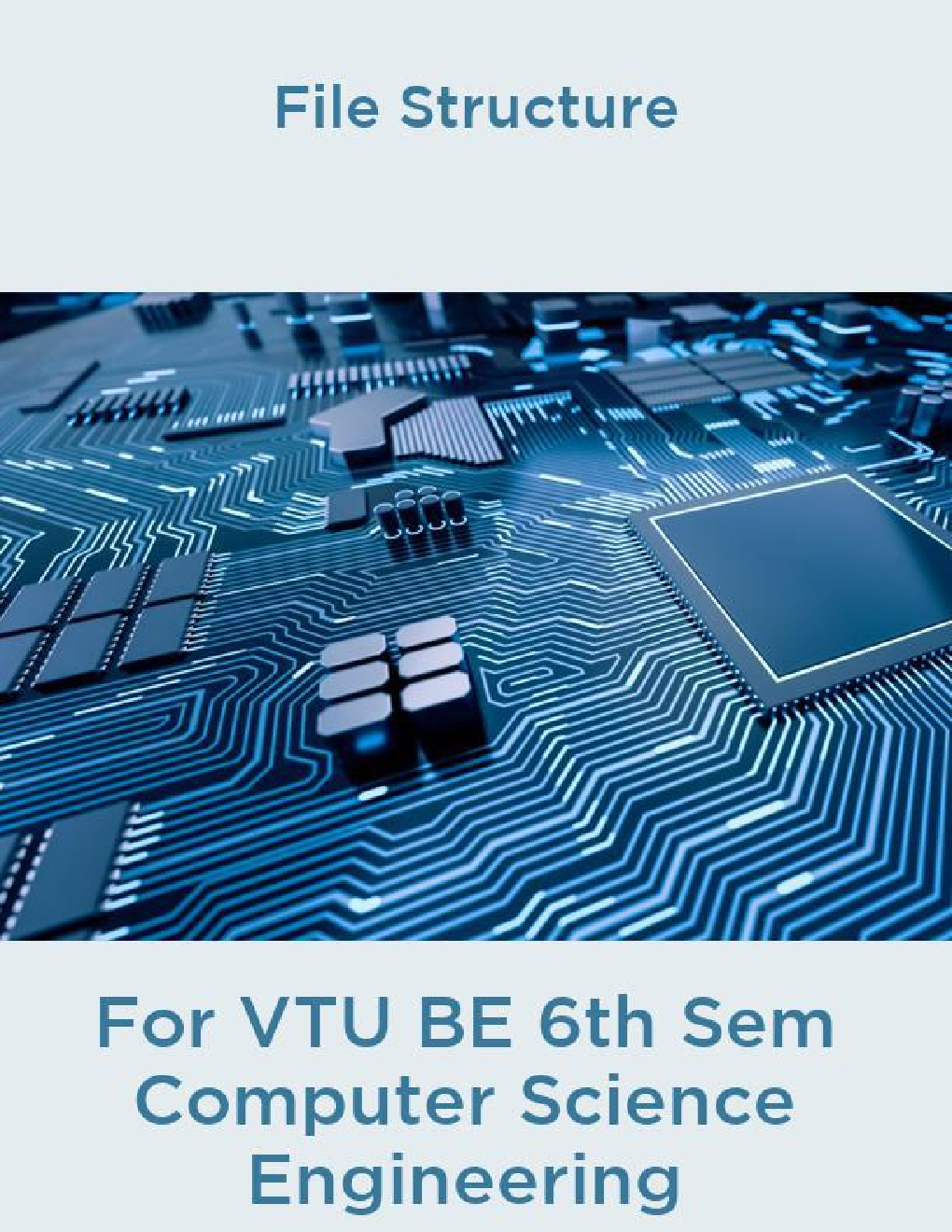 File Structure For VTU BE 6th Sem Computer Science Engineering - Page 1