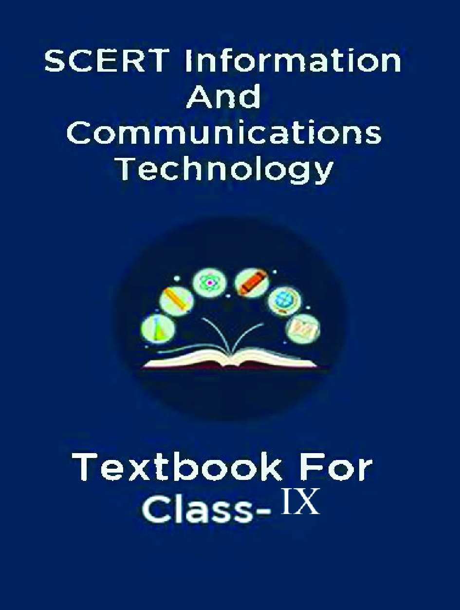 SCERT Information And Communications Technology Textbook For Class-IX - Page 1