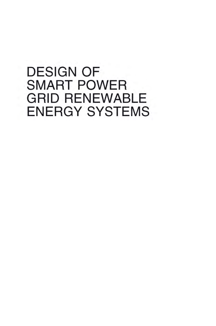 Free Download Design Of Smart Power Grid Renewable Energy Systems By Public Domain Pdf Online