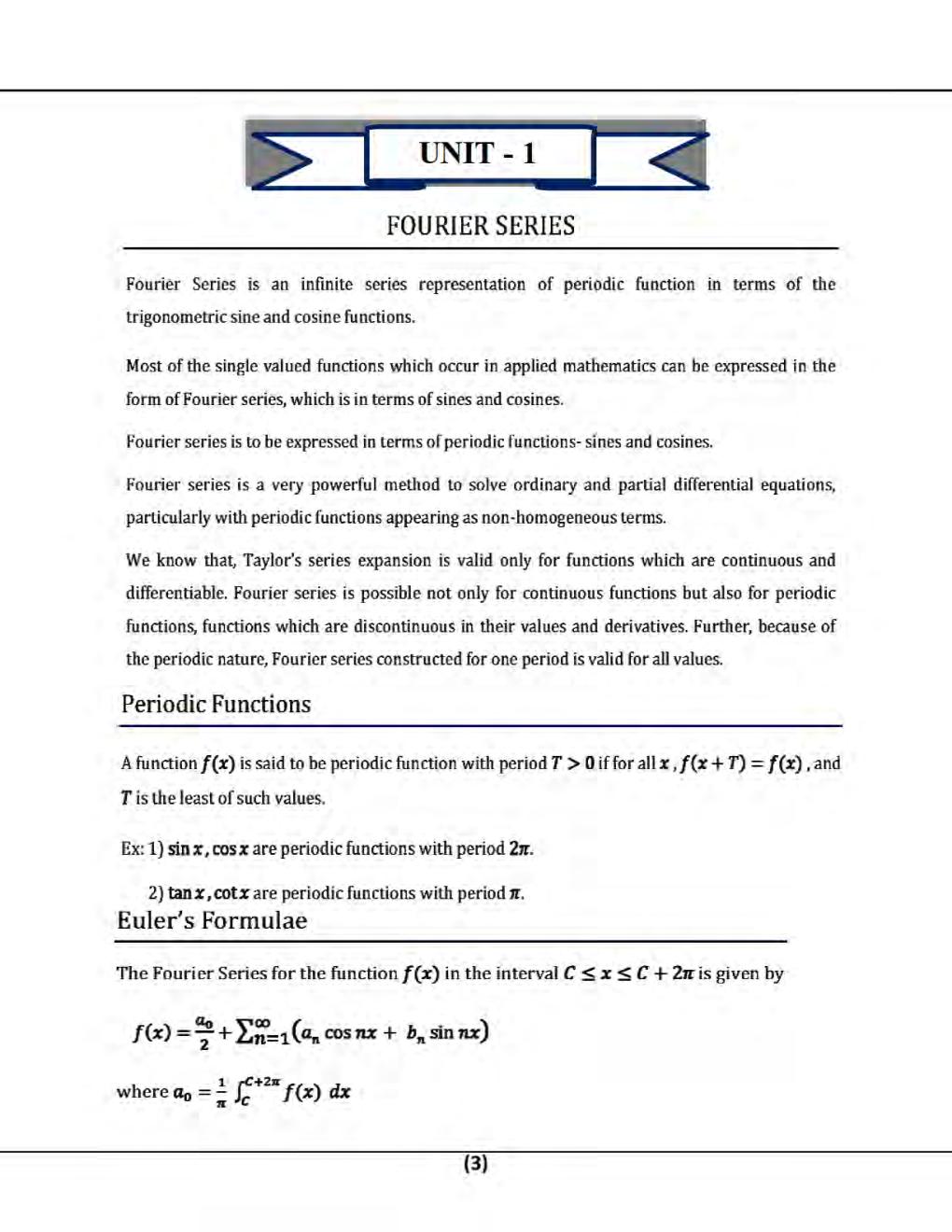 Mathematics-III B.Tech 4th Sem Engineering For JECRC University - Page 3