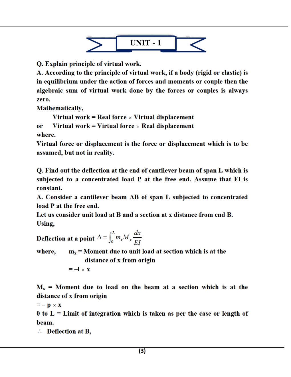 Structural Analysis-I B.Tech 4th Sem Civil Engineering For JECRC University - Page 3
