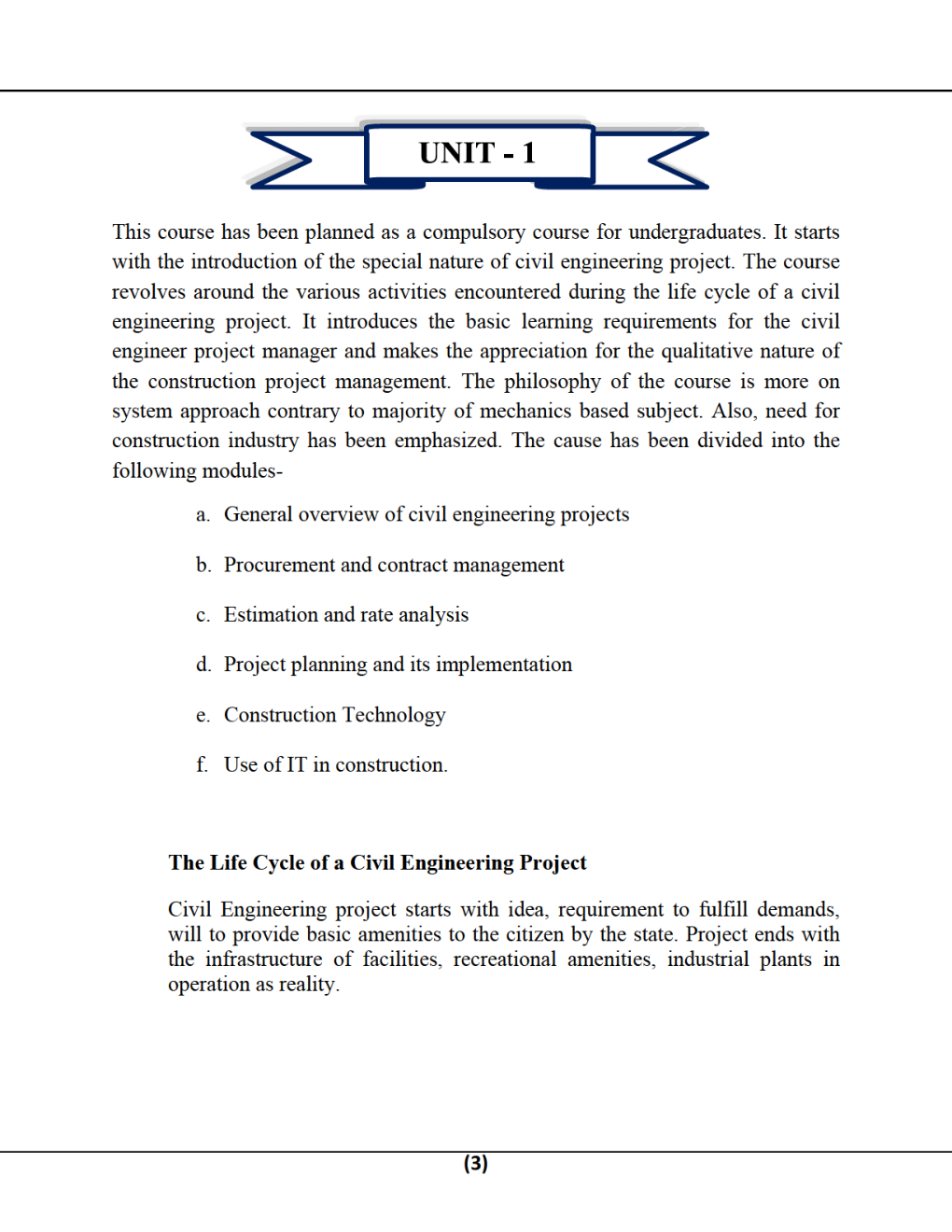 Construction Planning & Management B.Tech 5th Sem Civil Engineering For JECRC University - Page 3