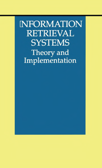 Information Retrieval Systems Theory And Implementation - Page 1