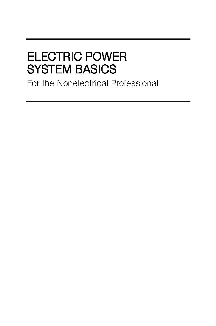 Electric Power System Basics For The Nonelectrical Professional - Page 2