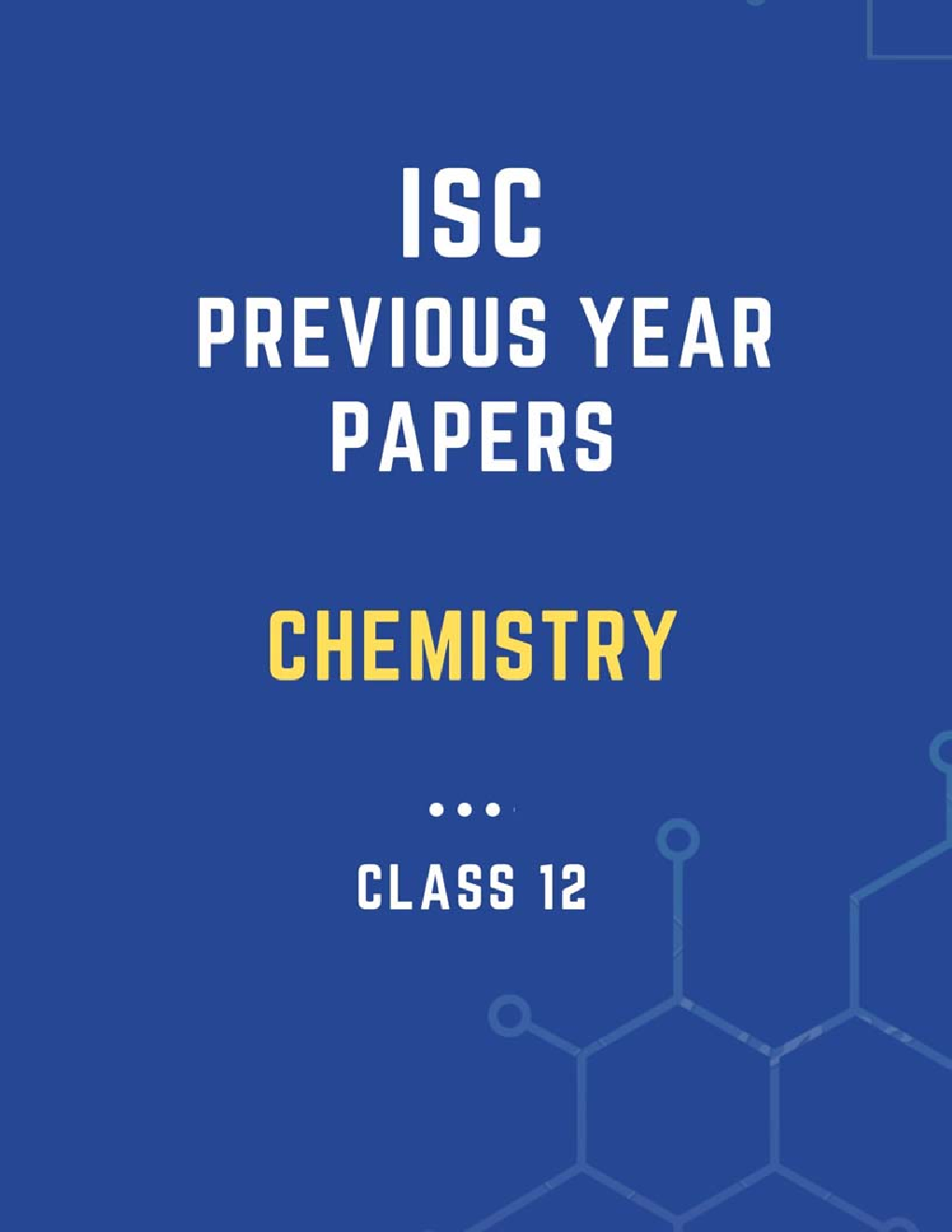 ISC Previous Year Paper Chemistry (2018-2019) For Class-12 - Page 1