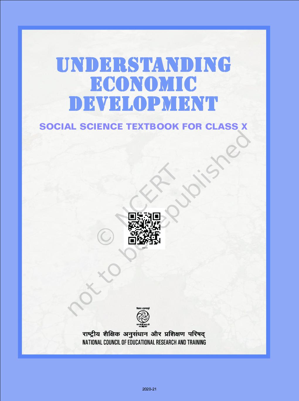 NCERT Understanding Economic Development Social Science Textbook For Class X - Page 2