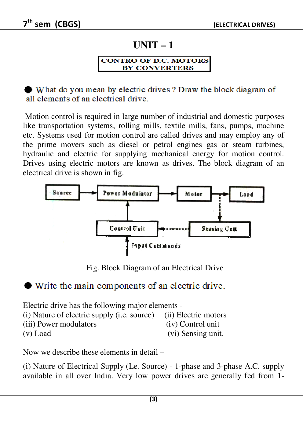 Electrical Drives For RGPV B.E. 7th Sem Computer Science Engineering - Page 4