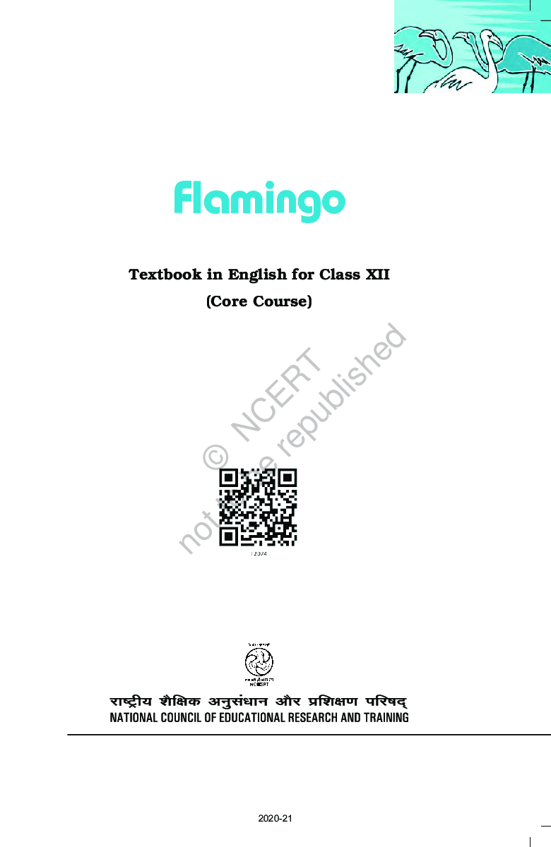 NCERT Flamingo English (Core Course) Textbook For Class-XII - Page 2